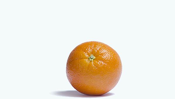 オレンジの皮